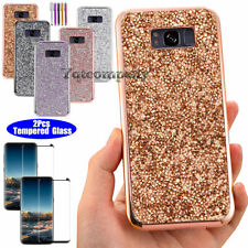 For Samsung Galaxy Note 8 Glitter Bling Phone Case Cover+ Glass Screen Protector