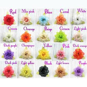 10/100Pcs 4.5cm Artificial Rose Flower head bulk Silk Fake Flowers Wedding Decor