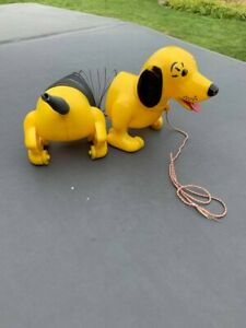 Vintage 1950's to 1960's Yellow Slinky Dog by James Industries