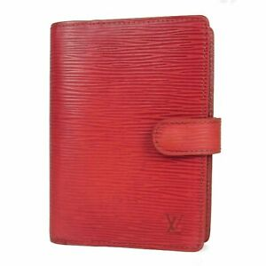 Auth LOUIS VUITTON R20057 Epi Leather Agenda PM Daily Planner Cover Red 14692b