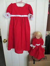 18 inch Doll & Girl Matching Dress set Size 4 * NEW  HANDMADE fits American Girl