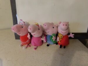 Peppa Pig + Brother GEORGE Plush Toys lot of 4