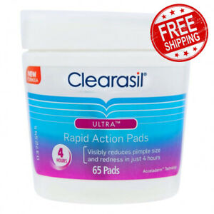 Clearasil Ultra Rapid Action Pads Visibly Reduces Clearasil Pimple 65 Pads