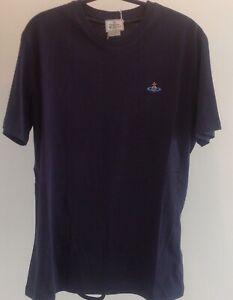 Vivienne Westwood Men's Navy Cotton Tshirt. Brand New