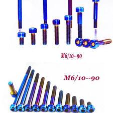 4pcs Titanium M6 x 10-90mm Cylindrical Head Ti Bolts Screws inner Plum BU Color