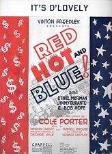 ETHEL MERMAN Red Hot and Blue Sheet Music IT'S D'LOVELY Jimmy Durante Bob Hope
