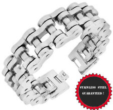 """Heavy Motorcycle 8'' 9""""10'' Stainless Steel Bike Biker Chain Silver Bracelet"""