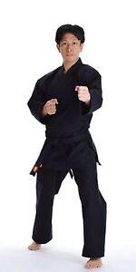 KANKU NEW Black Karate Uniform, Gi 7.5 oz Adult Kids w/White belt Tae Kwon Do