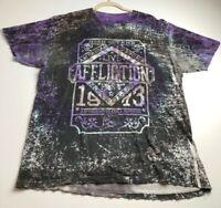 Affliction Men's Short Sleeve Destroyed Distressed Graphic T Shirt XXL 2XL Logo