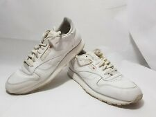 Reebok Classic White Leather Mens Trainers Size UK 12