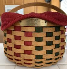 Longaberger 2003 Caroling Basket W/Protector, Liner & Wood Lid. Product card