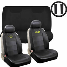 9pc Chevy Chevrolet Front Seat Covers Steering Wheel Shoulder Pads Universal