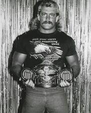 Magnum T.A TA 8x10 Photo WWE WCW Pro Wrestling Star Picture w/ NWA US Title Belt