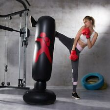 """63"""" Inflatable Punching Body Bag w/ Stand Boxing Bag Toy Boxing Stand Heavy Bag"""