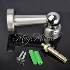 New Stainless Steel Magnetic Door Stop Stopper Holder Catch & Fitting Screws $