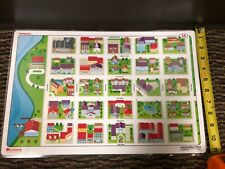 """Pristine 17""""X11"""" Laminated double sided Community 2A & Community Map 2B Nystrom"""