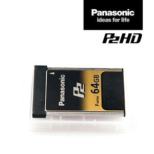 Panasonic Card AJ-P2E064FG | 64 GB P2-Speicher-Karte F-Series schnell MwSt.-Rng.