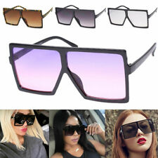 Oversized Square Flat Top Aviator XXL HUGE Fashion Diva Lauren BETTY Sunglasses