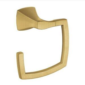 Moen YB5186BG Voss Collection Bathroom Towel Ring in Brushed Gold