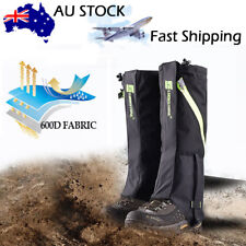 Men's Outdoor Hiking Hunting Snow Snake Waterproof Boots High Legging Gaiters
