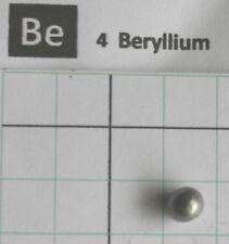0,3 gram solid Beryllium metal pellet 99,95% pure element 4 sample
