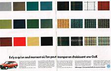 PUBLICITE ADVERTISING  1982  VOLKSWAGEN   la GOLF  (2 pages)