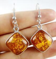 Precious Modernist amber Handmade Gemstone Jewellery earrings H16