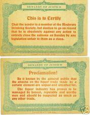 Anti Temperance Prohibition Postcards - Set of 8 cards