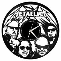 Metallica Vinyl Wall Clock Record Hand Made Exclusive Gift Home Room Decoration