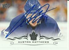 AUSTON MATTHEWS AUTOGRAPHED TORONTO MAPLE LEAFS CARD