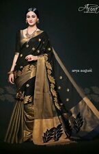 SAREE SARI BEAUTIFUL WEAR ASIAN INDIAN PAKISTANI ELEGANT BLACK