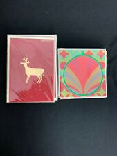 Lot Of 8 Papyrus Christmas Holiday Greeting Cards 4 Each NEW