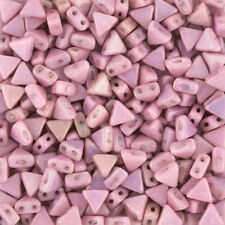 Kheops® Par Puca® 2 Hole Seed Beads Opaque Light Rose Luster 6mm 9g (K102/8)