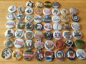 Skinhead Button Badges X 52