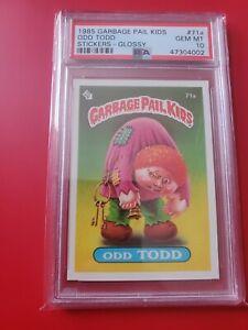 Garbage pail kids Series 2 1985 OS2 Odd Todd 71a glossy gem mint PSA 10