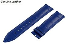 Genuine Leather BLUE Strap Fits BREGUET Watch Band For Buckle Clasp 12-24 Mens