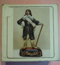 figurini soldatini piombo re di francia 75 mm white metal  tin toy soldiers