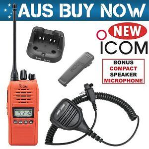 ORANGE ICOM IC-41PRO UHF CB TWO WAY RADIO PORTABLE HANDHELD HAND HELD IC PRO 41