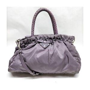 Prada Hand Bag  Purple Nylon 1133859