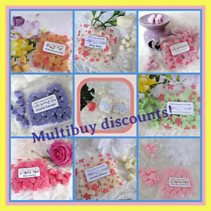 Soy Wax Melts x30 Max Scented Mini Hearts, Fragrances and Flowers - Discounts!