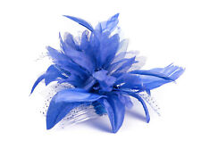 a3286d352916c Flower Feather Comb Fascinator Wedding Races Proms Bridal Hair Accessory 3