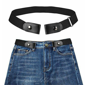 For Women Men Buckle Free Stretchy Invisible Elastic Waist Belt Waistband