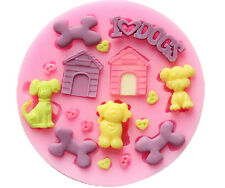 Dog House Sculpting Silicone Cake Fondant Molds Resin Clay Sugar Craft DIY Molds
