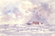 Peintures du XXe siècle et contemporaines en paysage marin, bateau
