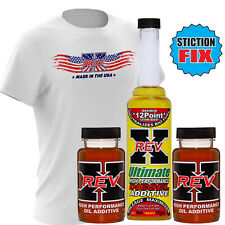 REV-X Ultimate Stiction Fix Oil Additive and Fuel Treatment + FREE REVX Shirt