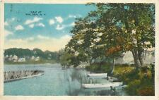Walden New York~Dam Used for Power~Roofed Boats at Shore~1917~Post Card