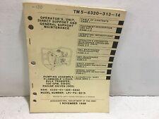 Tm 5-4320-313-14. Maintenance for Pump assy 100 Gpm, Diesel. Model Lpi-Pa-9215