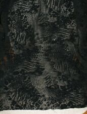Black Glittery Sheer Embellish Fabric Sewing Craft 2 Yards 54 Wide Fast Shipping
