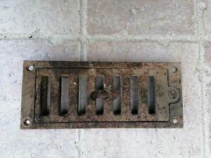 Grille d'aération grille en fonte réglable cheminée ou autres longueur 17,5 cm