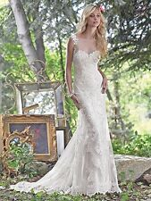 MAGGIE SOTTERO WEDDING DRESS-JOVI #6MW240 IVORY OVER PEARL SIZE 8